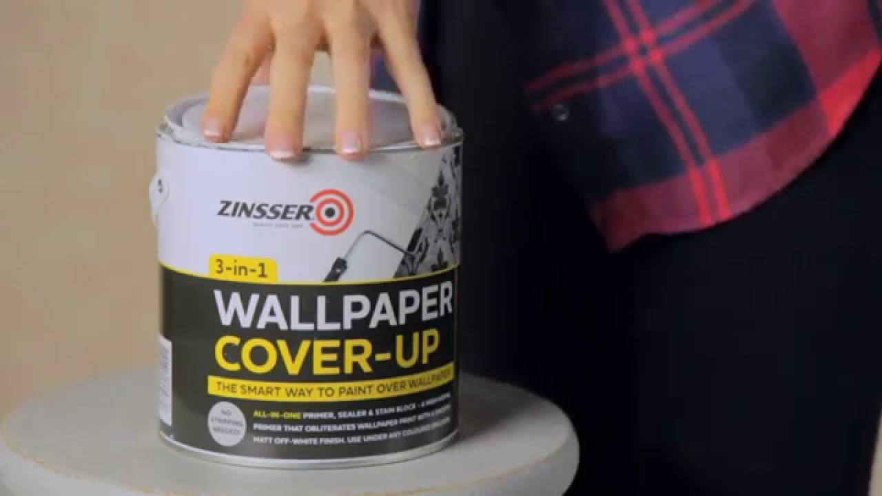 How to paint over wallpaper with Zinsser Wallpaper Cover Up - YouTube