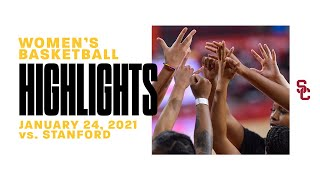 Women's Basketball: Stanford 86, USC 59 - Highlights 1/24/21