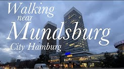 Walking near Mundsburg Center - Hamburg *[4K]*