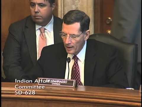 Chairman Barrasso Opening Statement at Oversight Hearing on Victim Services in Indian Country