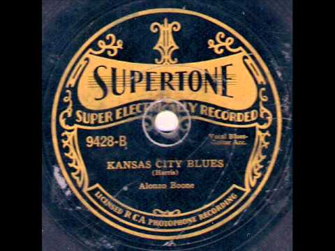 William Harris (aka Alonzo Boone) - Kansas City Blues - Supertone 9428 (1928)