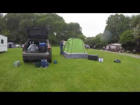 Mike&Jo tent pull down at Oldbury Hill campsite