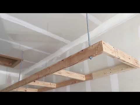 Suspended Garage Shelving Anchored With All Thread