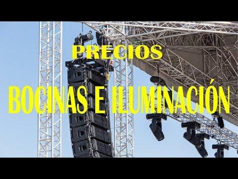 PRECIOS DE EQUIPOS DE AUDIO E ILUMINACIÓN
