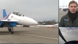 Русские витязи  тренируются в Подмосковье перед авиасалоном