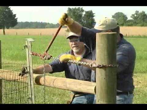 Bekaert Horse Fence Installation