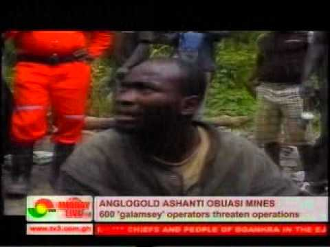 illegal small scale mining Anglogold Ashanti Obuasi gold mines