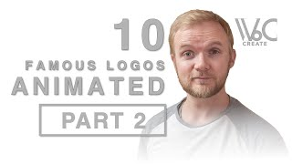 10 Famous Logos ANIMATED | CREATE 3 | Werner Botha | PART 2