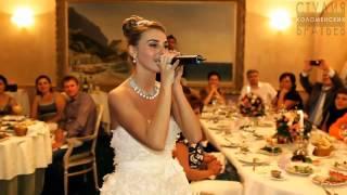 Невеста читает рэп на свадьбе в подарок жениху очень красиво