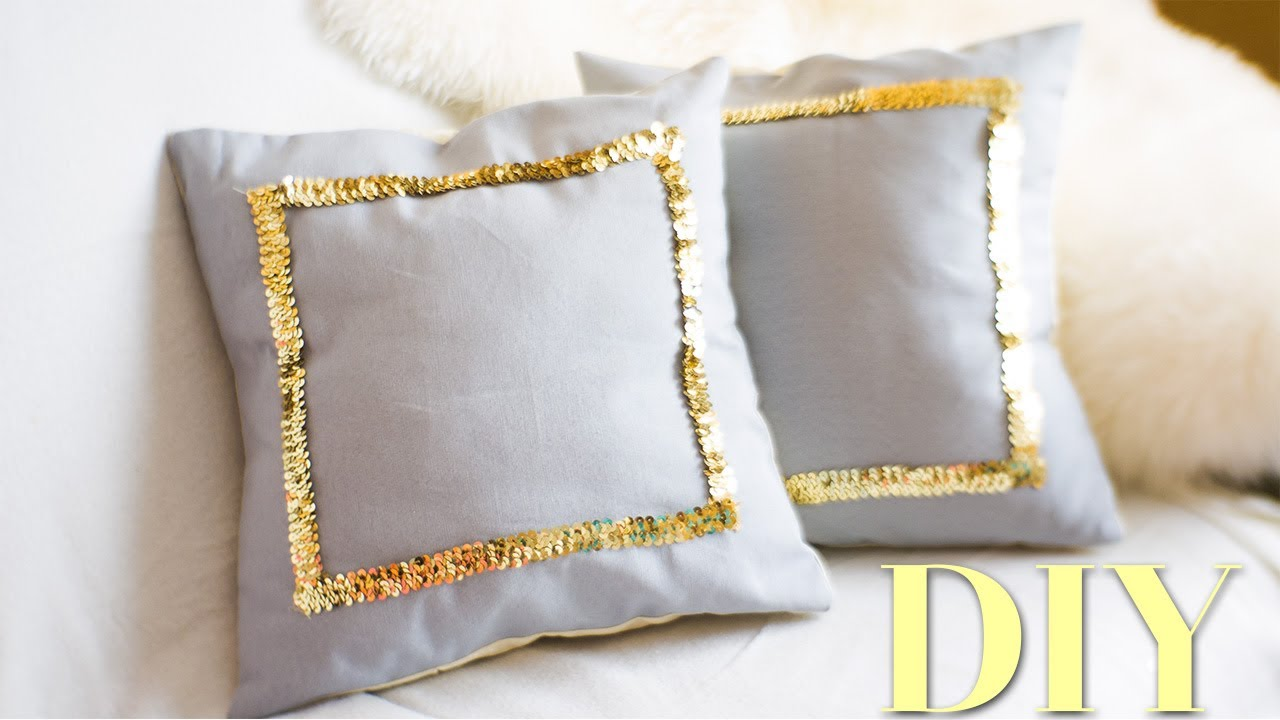 Diy Sequin Throw Pillow Covers Martha Stewart Nekkoart Youtube