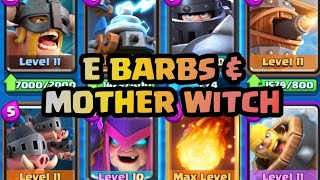 ELITE BARBARIANS AND MOTHER WITCH DECK | BEST DECK TO COUNTER PUSH YOUR OPPONENT | Clash Royale Deck