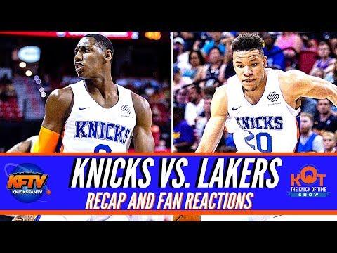 knicks-vs.lakers-summer-league-highlights-&-fan-reactions-|-rj-barrett-&-kevin-knox-cook!-🔥🔥