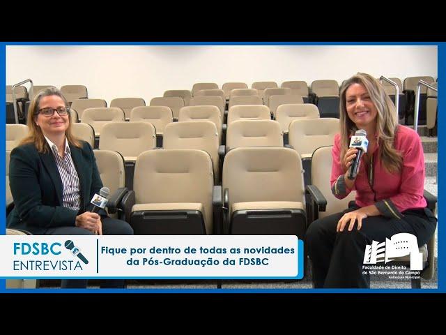 Fique por dentro de todas as novidades da Pós – Graduação da FDSBC