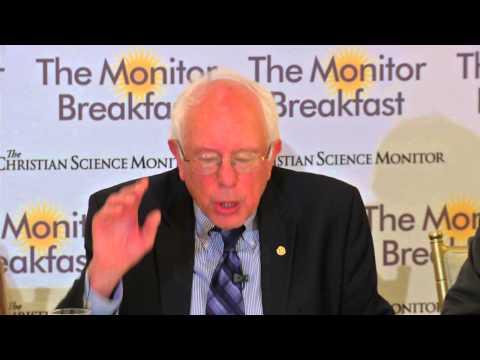 The Monitor Breakfast - Bernie Sanders (video)