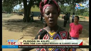 More than 3,000 people rescued in flooded areas in Kilifi