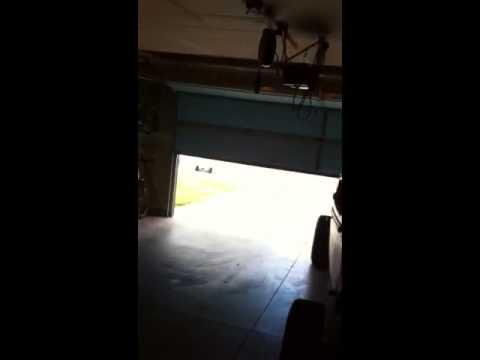 open garage door warning light