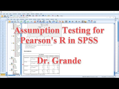 Testing the Assumptions for Pearsons R in SPSS