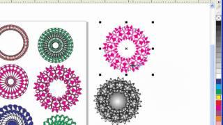 Уроки CorelDRAW: создаем фоновые узоры(В этом уроке создаем фоновые узоры, основанные на технике вращения различных объектов, применения эффекта..., 2011-07-17T20:29:22.000Z)