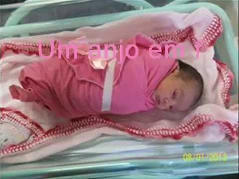 Deus me mandou você um anjo em ma de bebê Manu!