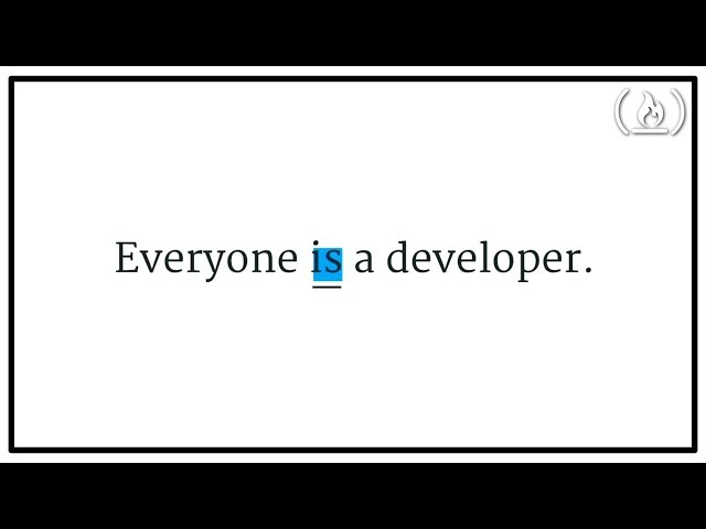Everyone is a Developer - Talk by Jessica Lord