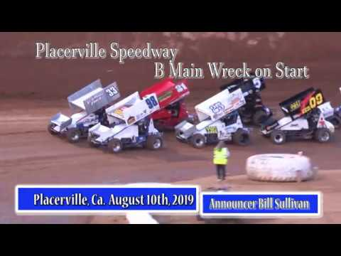 Placerville Speedway August 10th, 2019 B Main wreck