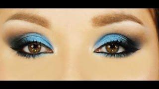 Trucco blu per occhi magnetici- Blue smokey eyes