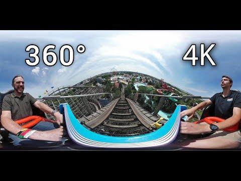 Thunder Run front seat 360° onride 4K POV Kentucky Kingdom
