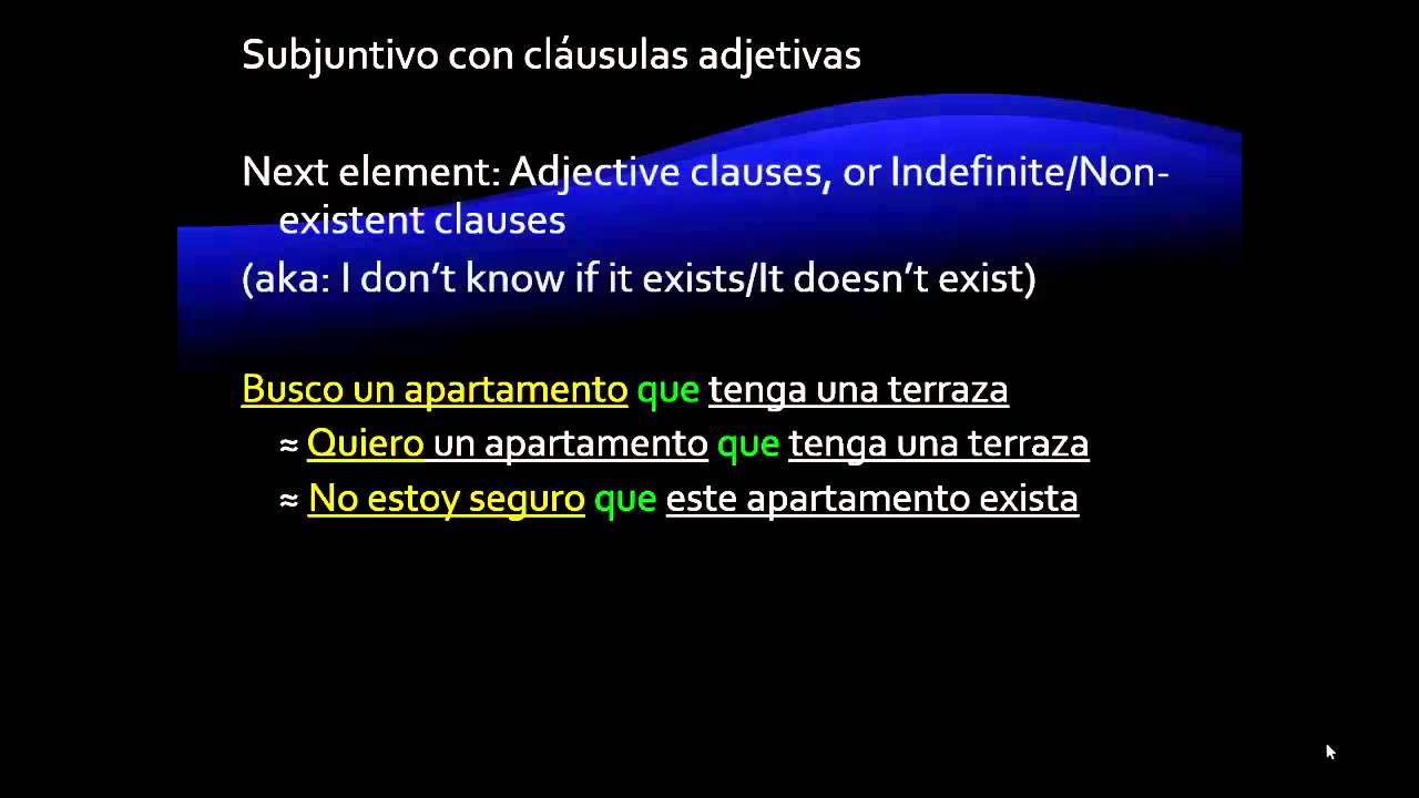 Subjunctive With Adjective Clauses