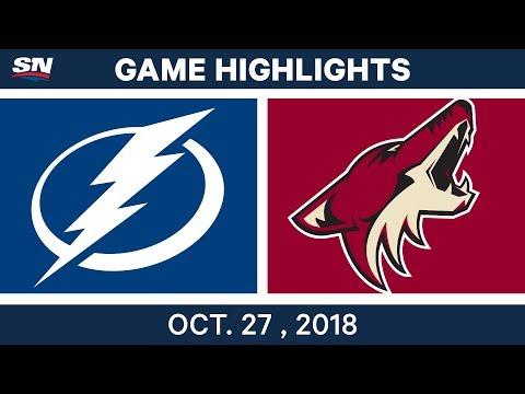 NHL Highlights | Lightning vs. Coyotes - Oct. 27, 2018