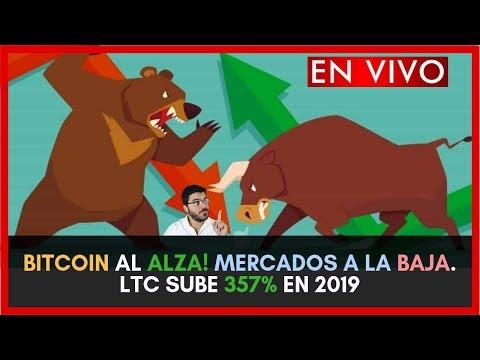 BITCOIN AL ALZA! MERCADOS A LA BAJA. LTC SUBE 357% EN 2019