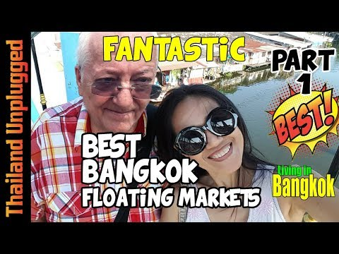 BEST FLOATING MARKETS IN BANGKOK THAILAND pt 1 ตลาดโบราณบางพลี