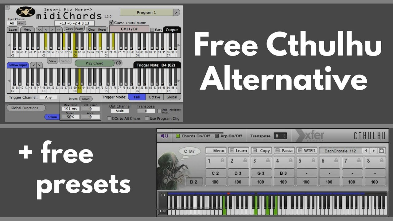 Free Cthulhu Alternative with Free Chord Presets