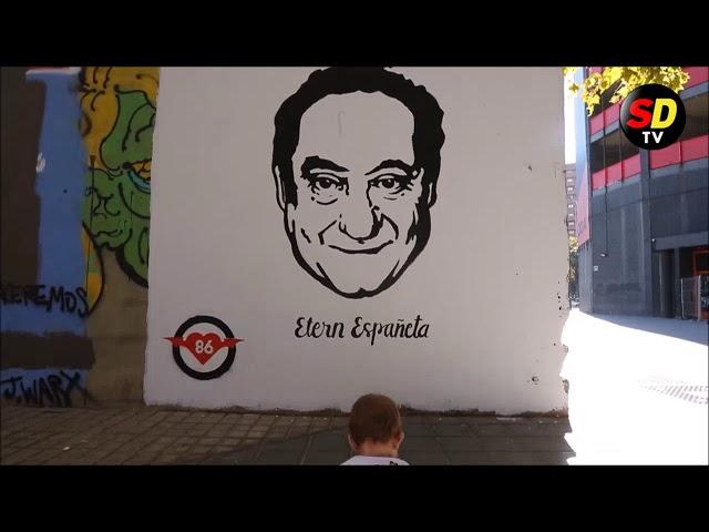 La familia de Españeta se emociona con el mural homenaje