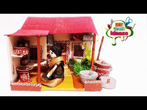 DIY Miniature Container Home in Japanese Style | Village traditional kitchen miniature house
