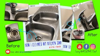 How I clean Dirty smelly kitchen sink with Koh cleaning product / cleanedbykoh  promo code LADANDKOH