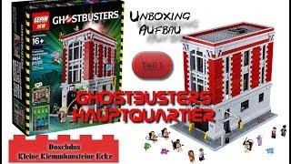 Ghostbusters Hauptquartier - LEPIN - 16001 - Teil 1 - Unboxing, Aufbau - Deutsch / German