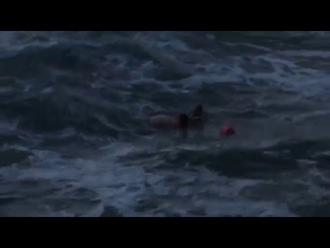 Raw footage: Drowning incident at the Ocean beach in San Diego on March 12th, 2016