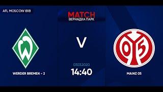 AFL20 Germany Bundesliga 2 Day 2 WERDER BREMEN 2 MAINZ 05