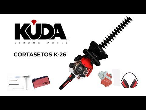 Cortasetos de gasolina KUDA-26 ancho de corte 60cm