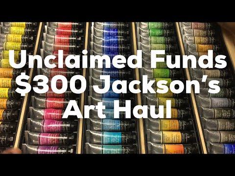 Epic Jacksons Art Haul and Unclaimed Funds PSA. Sennelier 98 watercolor haul