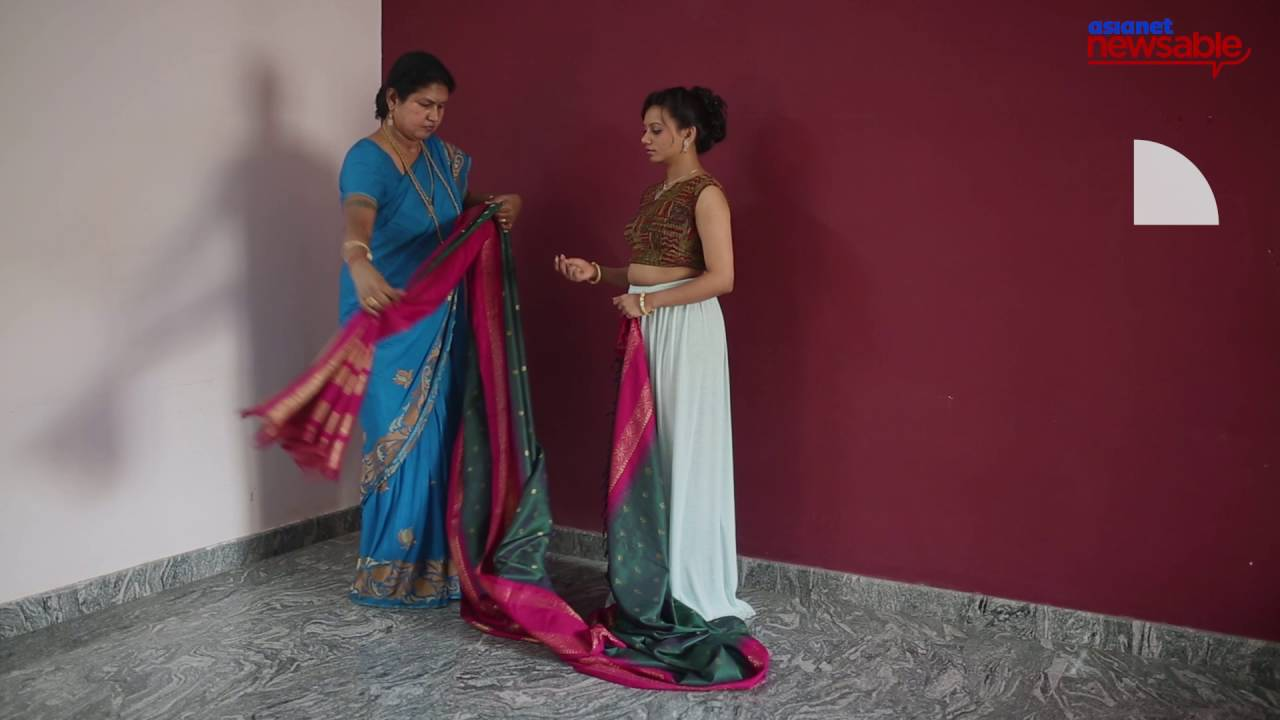 22a3b70df6 How to wear a saree in one minute - YouTube