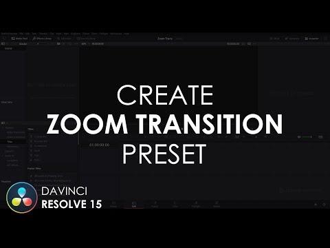 Create Zoom Transition Preset in DaVinci Resolve 15   DaVinci Resolve 15 Tutorial