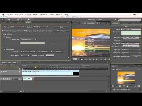 Adobe Encore CS5  BURNING A DISC & EXPORTING TO FLASH  Errors & Compatibility Issues