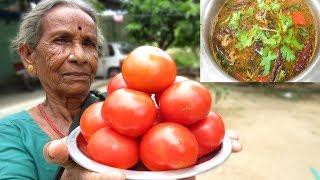 Grandma Tomato Rasam Recipe | Traditional way of Cooking in My Village | VILLAGE FOOD