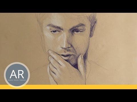 Gesichter zeichnen lernen. Schöne Effekte bei Porträt zeichnen. Bewerbungsmappe Kunst