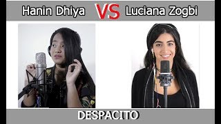 DESPACITO (Mashup Cover) Hanin Dhiya VS Luciana Zogbi #mana your choice?