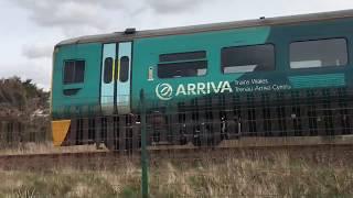 Trains at Cambrian coast caravan park - Borth