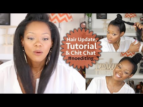 Thinning Natural Hair & Hair Loss Update, Ninja Bun/Top Knot Tutorial & Chit Chat | BorderHammer