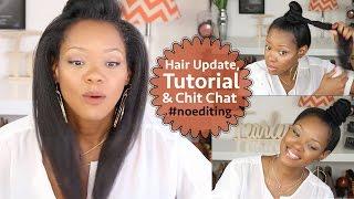Thinning Natural Hair & Hair Loss Update, Ninja Bun/Top Knot Tutorial & Chit Chat | BorderHammer