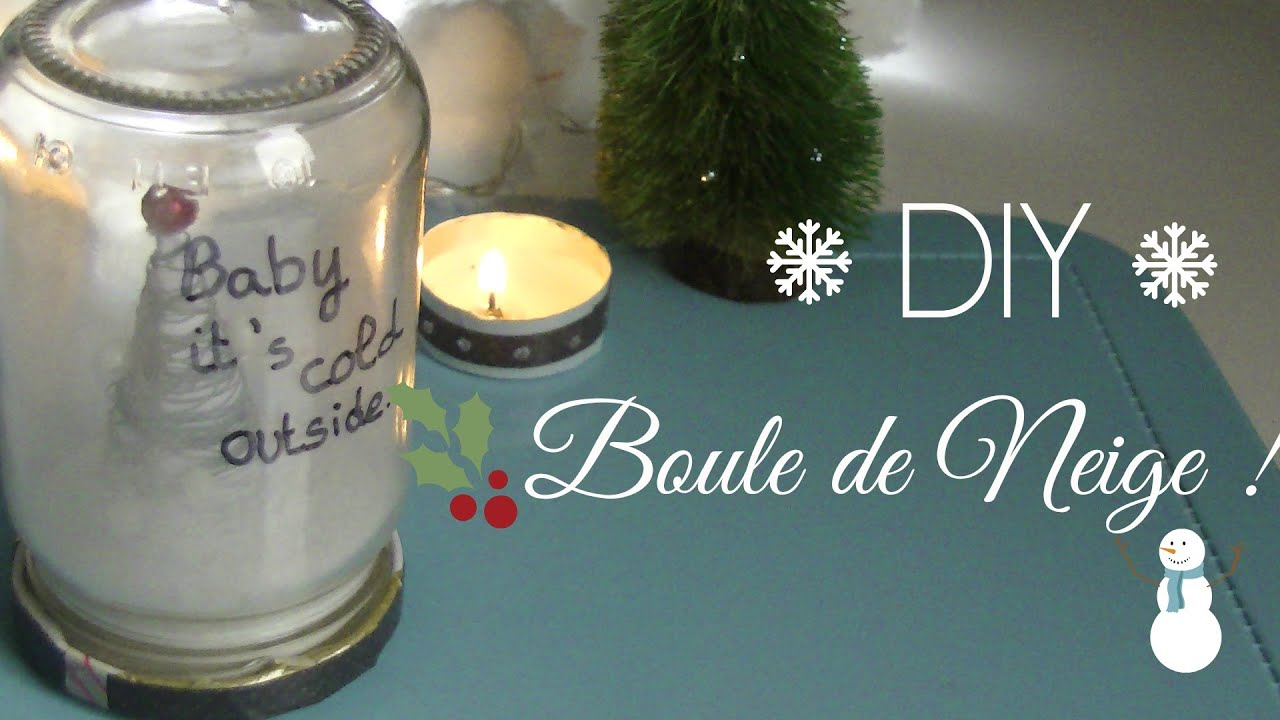 christmas diy la boule de neige youtube. Black Bedroom Furniture Sets. Home Design Ideas